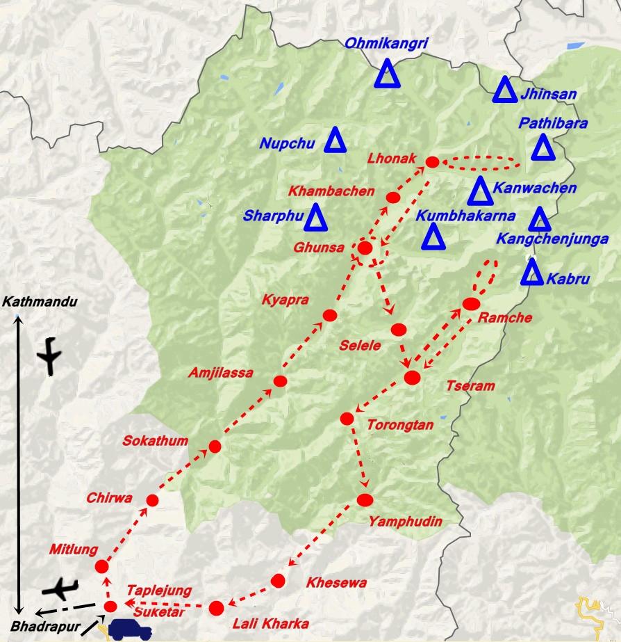 trek Kangchenjunga